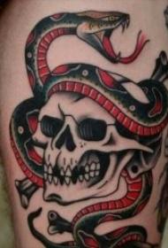 纹身蛇图片 9张冰冷而又无情的蛇纹身图案