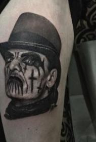 纹身人物图片  一组个性而又张扬的人物纹身图案