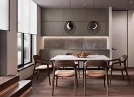 145平三居室温暖的橙与木棕,舒服的自然感