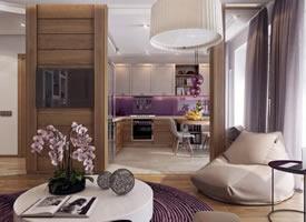 轻奢大气的一居室小公寓装修效果图欣赏