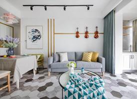 斯堪的纳维亚风格公寓住宅,自然清新,亲和随性