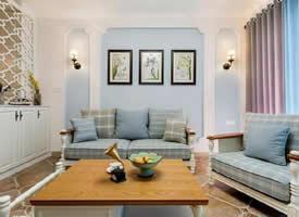 106㎡简约美式三居室装修效果图欣赏