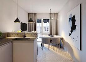 小户型公寓大气装修还做了衣帽间和阳光房,这设计很强