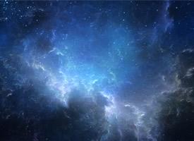 灿烂的夜晚星空高清桌面壁纸