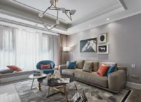 温馨的暖色调,简约现代风三居室图片欣赏