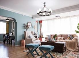135平米美式三居室装修效果图欣赏