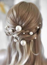 仙得不要不要的珍珠发饰图片欣赏