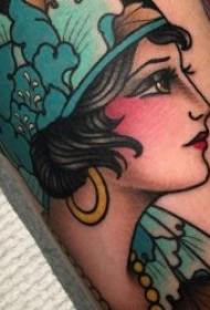 纹身new school  极具创意色彩的new  school风格人物纹身图案