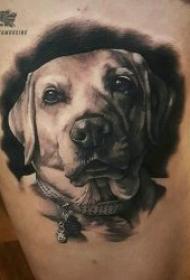 狗狗纹身图案  10款机灵而又可爱的狗狗纹身图案