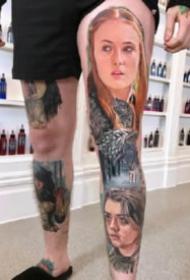 人物肖像纹身 9张逼真的人物写实纹身图案