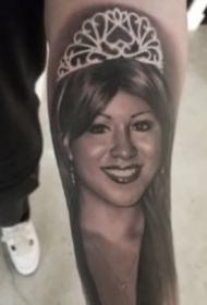 肖像纹身 欧美写实逼真的人像纹身图片
