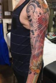 传统花臂纹身 传统风格的9张花臂纹身作品图案欣赏