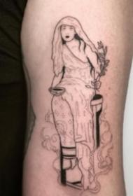 异域风情一组简约个性线图纹身欣赏