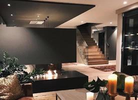 一组暗色系浪漫loft系列公寓装修效果图