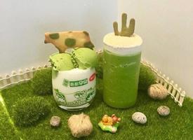 一组绿色小清新感的抹茶饮品图片