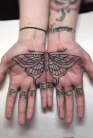 手掌纹身 9张手掌心里的创意线条纹身图案