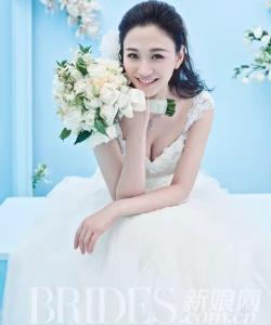 气质女神李小冉新娘装婚纱唯美写真摄影图片
