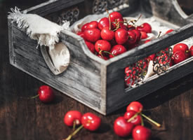一组红红的小樱桃图片欣赏
