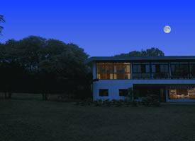 夜晚宁静的美丽乡村图片欣赏