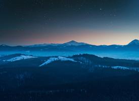 唯美山川夜景高清图片欣赏