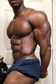 欧美黑人肌肉帅哥诱惑艺术照片