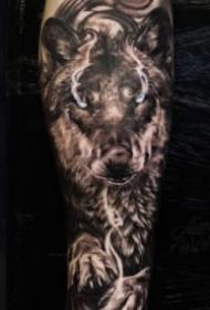 狼纹身 9款好看的凶恶狼主题纹身图案