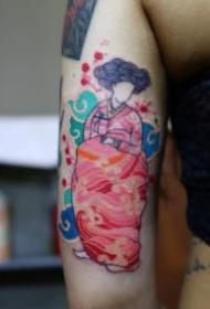 日式浮世绘腾云祥云主题的一组小纹身图片