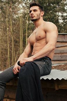 半裸欧美男神系肌肉写真照片
