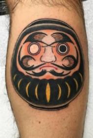 达摩蛋纹身 18款红色的日式达摩蛋纹身图案