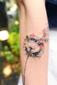 蒲公英纹身:9张小清新的蒲公英纹身图案