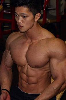 健身房帅哥肌肉型男图片