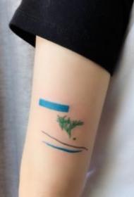 极简风格的9款小清新英文等纹身图片