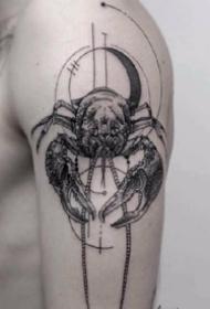 巨蟹座纹身 9张适合巨蟹座的螃蟹纹身图案作品