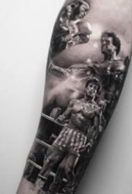 名人纹身:9张影视名人的写实人像纹身图案