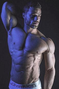 性感欧美肌肉型男半裸艺术照片