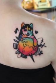 波普艺术风格的9款彩色纹身图片