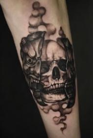 暗黑骷髅纹身 9款黑灰色的个性骷髅纹身图片
