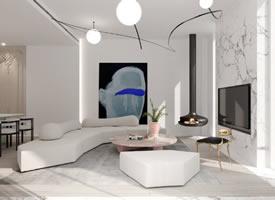 450平简约别墅,纯净、灵动装修效果图