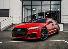 一组红色帅气的Audi A7 Sportback