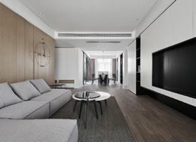 112平现代简约三居装修效果图
