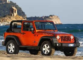一组红色酷炫的jeep牧马人汽车图片