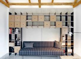 简约整齐的书架书柜图片