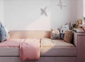温馨的淡粉色小户型设计