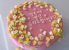 一组粉色少女系蛋糕图片欣赏