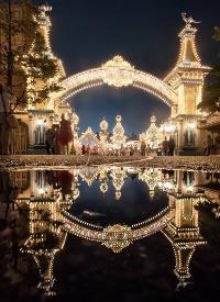 雨后的东京迪士尼夜景
