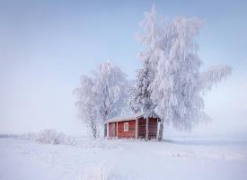 芬兰Lapua的雪景图片