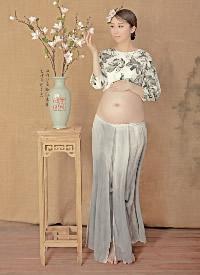 古典花瓶风孕妇照写真摄影