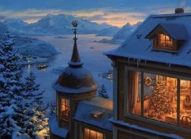 一组超有意境的冬季雪景图片