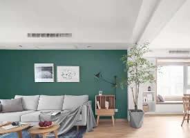 简约绿色风格装修效果图