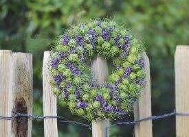 一组创意好看的花环图片